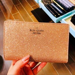 Kate Spade Joeley Rose Gold Medium Bifold Wallet